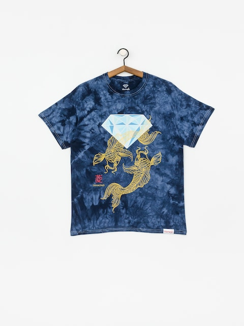 Diamond Supply Co. Pond Crystal Wash T-shirt (navy)