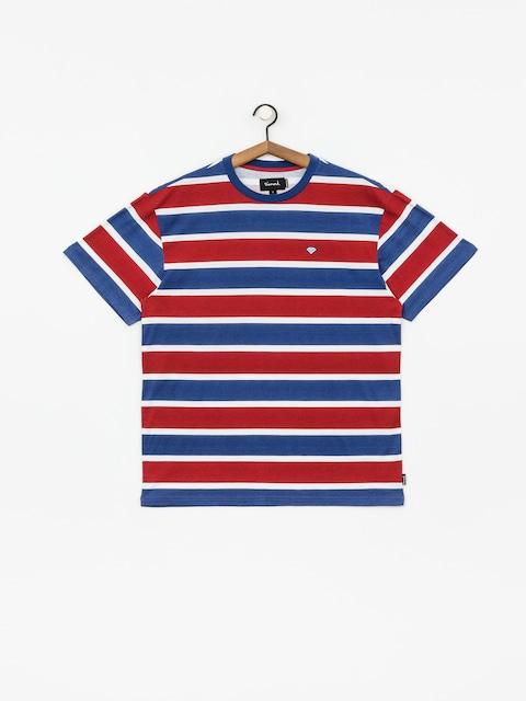 Diamond Supply Co. Hard Cut Striped T-shirt (navy)