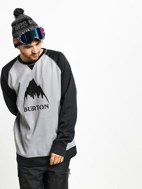 Burton Crown Bndd Crew Active sweatshirt (gryhtr/trublk)