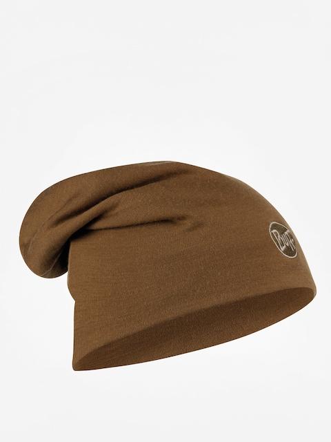 Buff Heavyweight Merino Wool Long Beanie (solid tundra khaki)