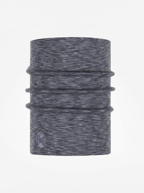 Buff Heavyweight Merino Wool Neckwarmer (fog grey multi stripes)