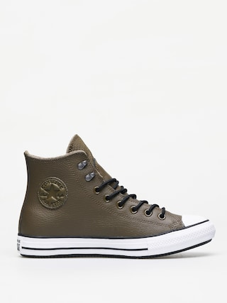 Converse Chuck Taylor All Star Hi Winter Leather Chucks (surplus olive/black/white)