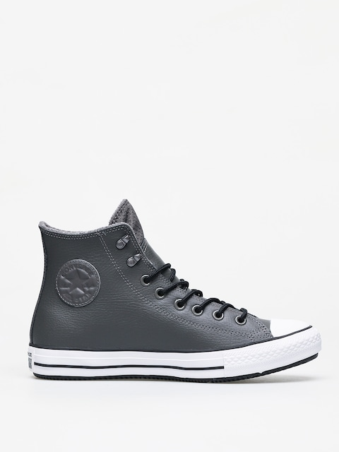 Converse Chuck Taylor All Star Hi Winter Leather Chucks (carbon grey/black/white)