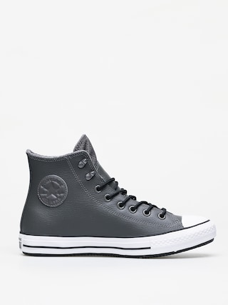 Converse Chuck Taylor All Star Hi Winter Leather Chucks (carbon grey/black/white)