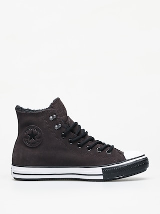 Converse Chuck Taylor All Star Hi Winter Leather Gore Tex Chucks (velvet brown/white/black)