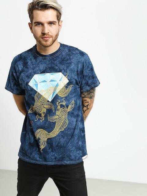 Diamond Supply Co. Pond Crystal Wash T-shirt (navy)