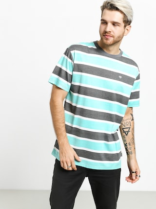 Diamond Supply Co. Hard Cut Striped T-shirt (grey)