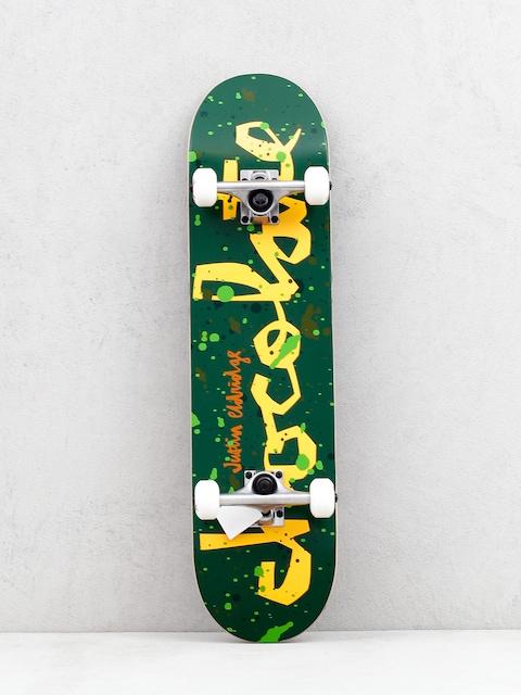 Chocolate Eldrige Jawbreaker Skateboard (green/orange)