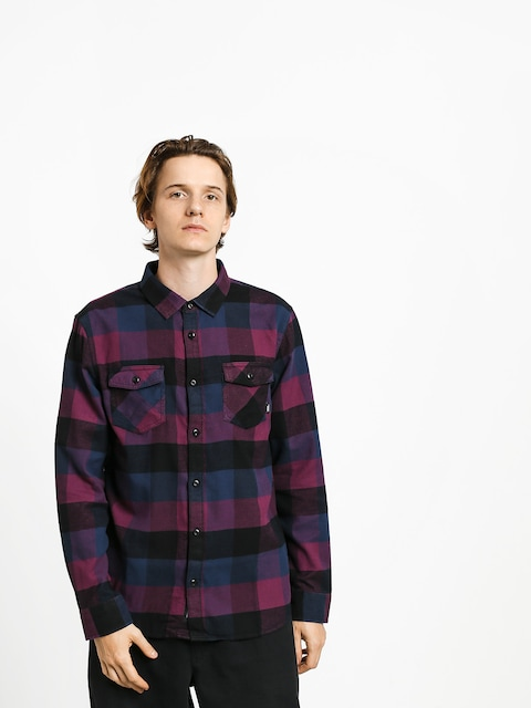 Vans Box Flannel Shirt (prune/dress blues)