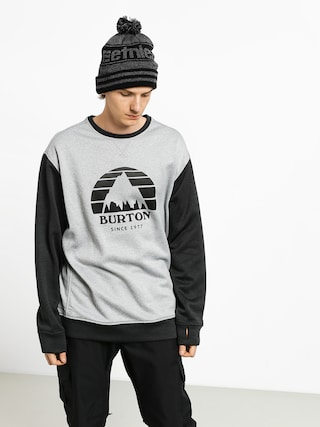 Burton Oak Crew Sweatshirt (gryhtr/htrtbl)
