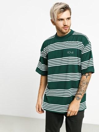 Polar Skate Striped Surf T-shirt (dark green)