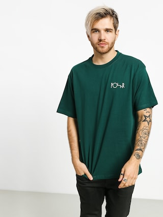 Polar Skate Stroke Logo T-shirt (dark green)