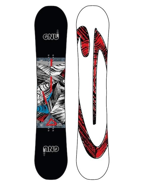 Gnu Asym Carbon Credit Btx Snowboard (multi)
