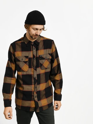 Brixton Bowery Flannel Ls Shirt (black/gold)