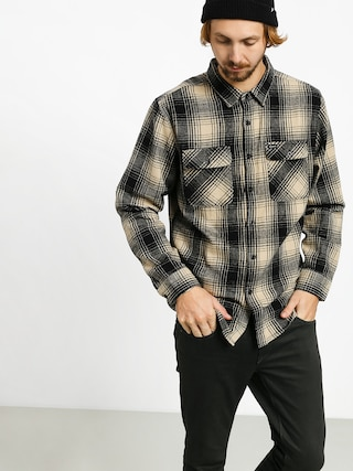 Brixton Bowery Flannel Ls Shirt (black/bone)