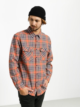 Brixton Bowery Flannel Ls Shirt (salmon/navy)