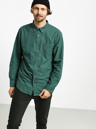 Brixton Charter Oxford Wvn Shirt (emerald)
