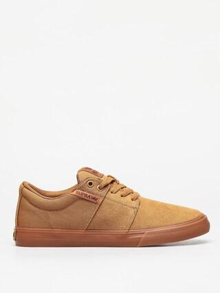 Supra Stacks Vulc II Shoes (tan/brown lt gum)
