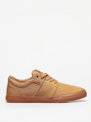 Supra Stacks Vulc II Shoes (tan/brown lt gum)