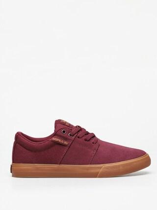 Supra Stacks Vulc II Shoes (wine/tan lt gum)