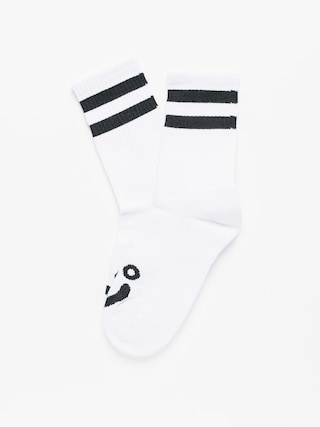 Polar Skate Happy Sad Socks (white)