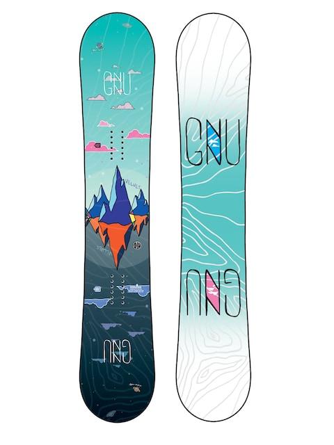 Gnu Asym Velvet C2 Snowboard Wmn (multi)