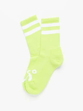 Polar Skate Happy Sad Socks (lime)