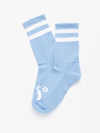 Polar Skate Happy Sad Socks (light blue)