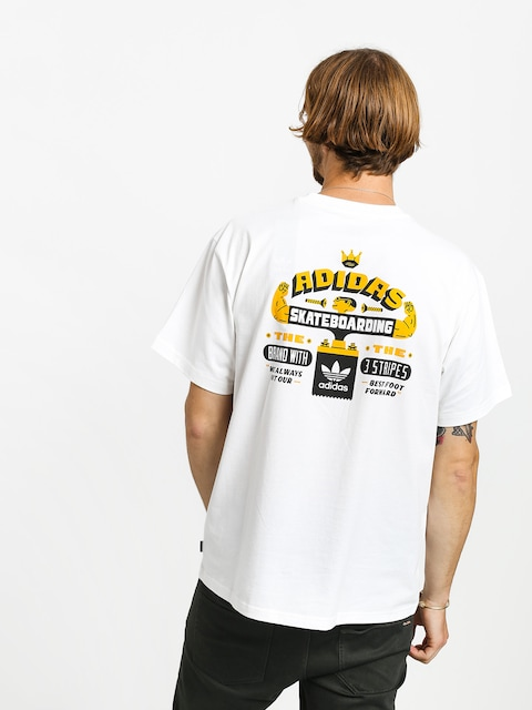 adidas Footforward T-shirt (white/black/active gold)