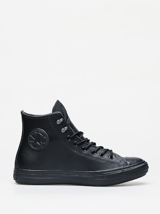 Converse Chuck Taylor All Star Hi Winter Leather Chucks (black/black/black)