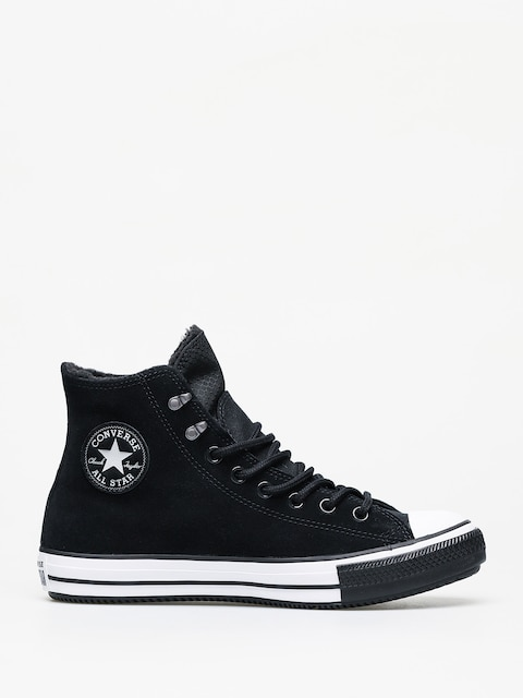 Converse Chuck Taylor All Star Hi Winter Leather Gore Tex Chucks (black/white/black)