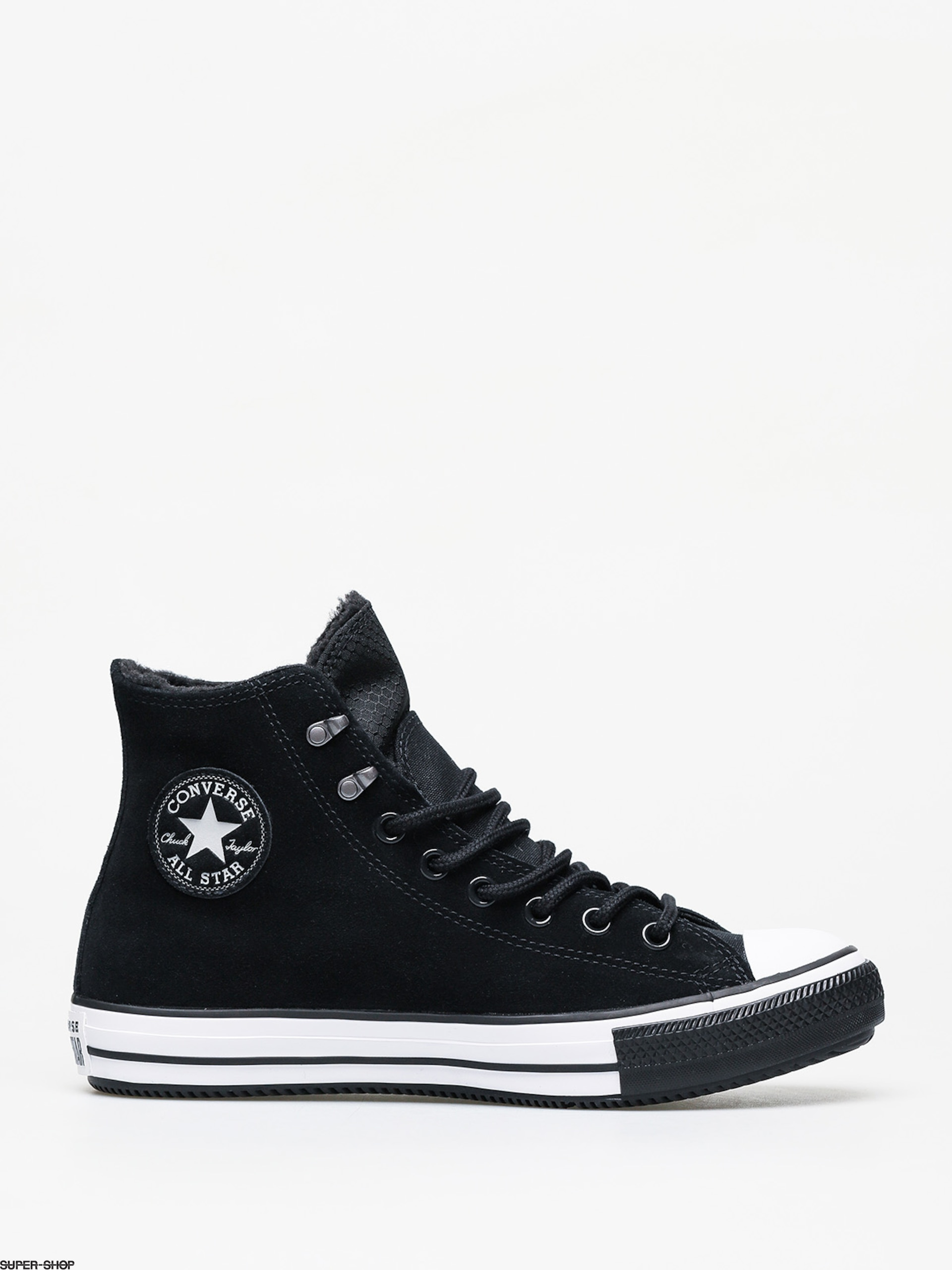 Converse Chuck Taylor All Star Hi Winter Leather Gore Tex Chucks (blackwhiteblack)