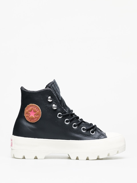 Converse Chuck Taylor All Star Hi Lugged Winter Shoes Wmn (black/mod pink)