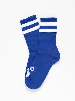 Polar Skate Happy Sad Socks (royal blue)