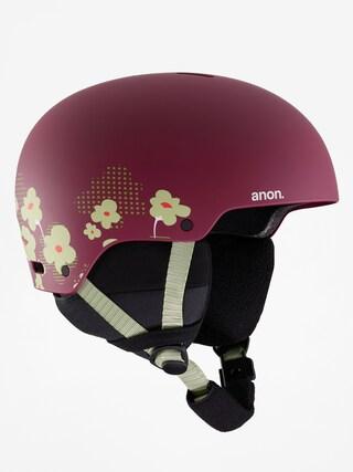 Anon Rime 3 Helmet (flower maroon)