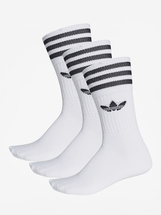 adidas Solid Crew Socks (white/black)