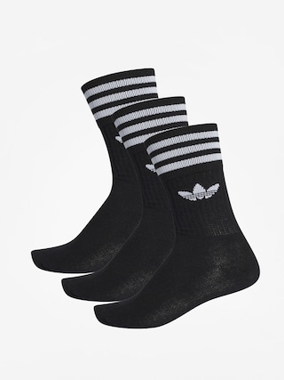 adidas Solid Crew Socks (black/white)