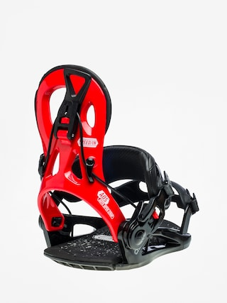 Gnu Cheeter Snowboard bindings (red)