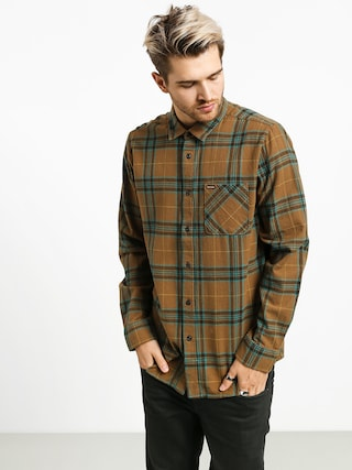 Volcom Caden Plaid Shirt (mud)