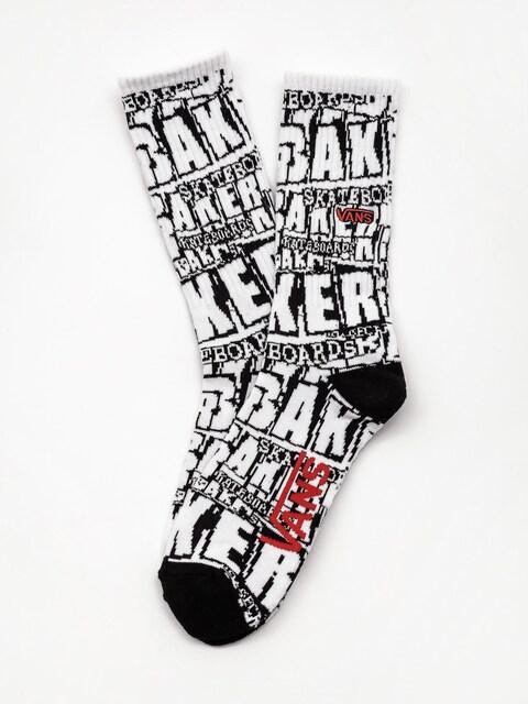 Vans X Baker Crew Socks (white baker)