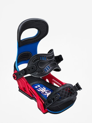 Bent Metal Transfer Snowboard bindings (blue/red)
