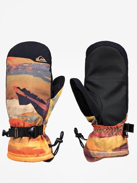 Quiksilver Mission Mitt Gloves (barn red mat paint)