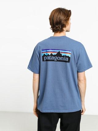 Patagonia Logo Responsibili T-shirt (woolly blue)