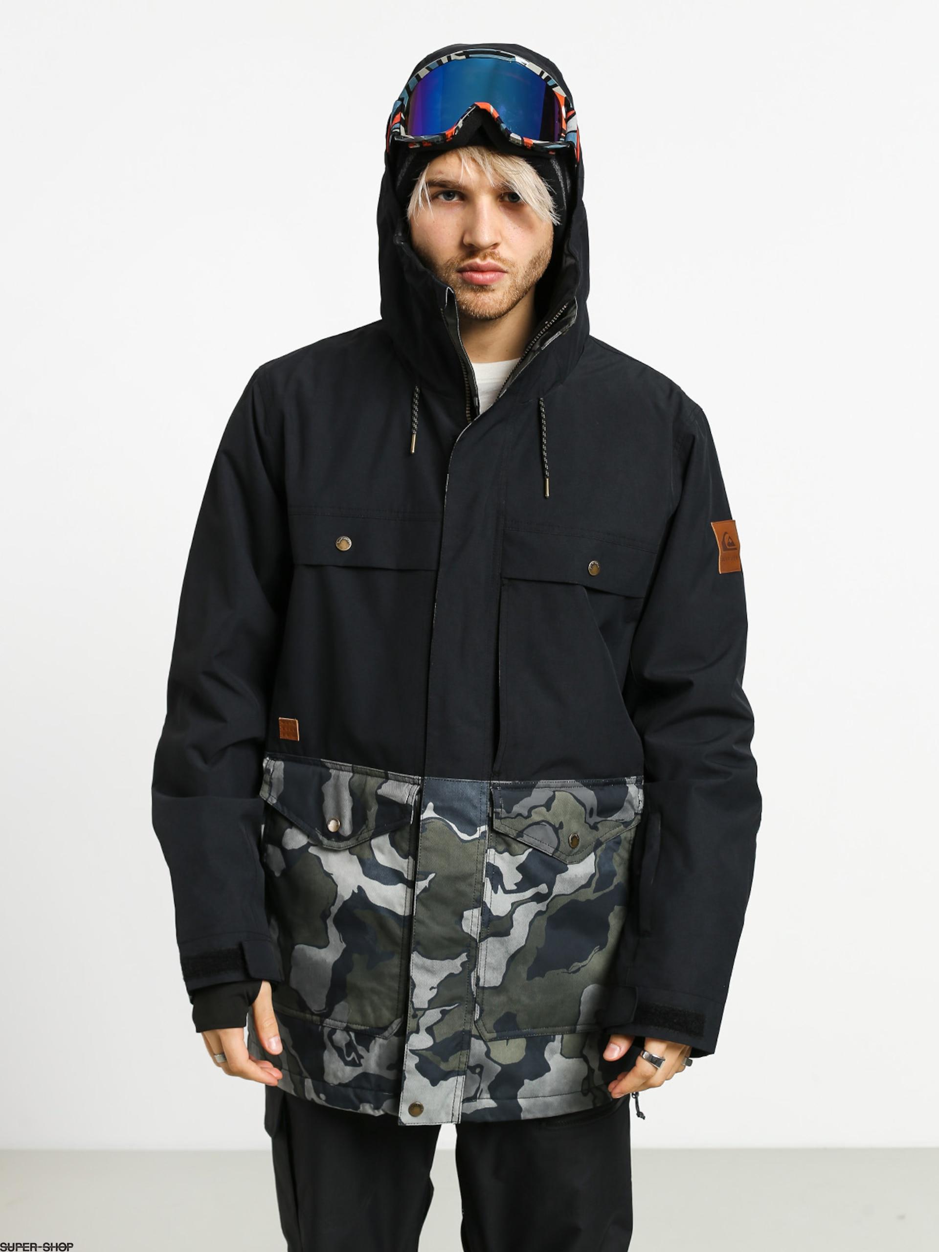 Mens Quiksilver Horizon Snowboard jacket (black sir edwards)