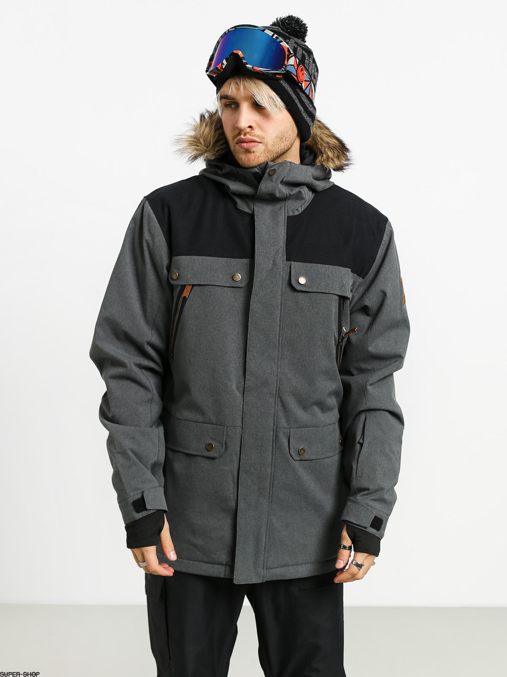 Mens Quiksilver Selector Snowboard jacket (black heather)