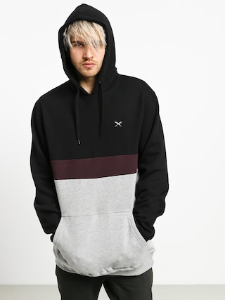 Iriedaily Court HD Hoodie (black red)