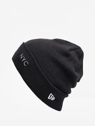 New Era Nyc Cuff Knit Beanie (black/optic white)