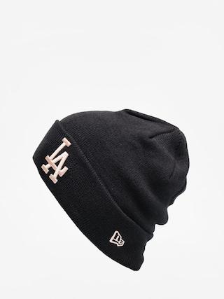 New Era League Essential Cuff Knit Beanie (black/blush sky)