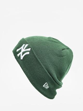 New Era League Essential Cuff Knit Beanie (green/optic white)