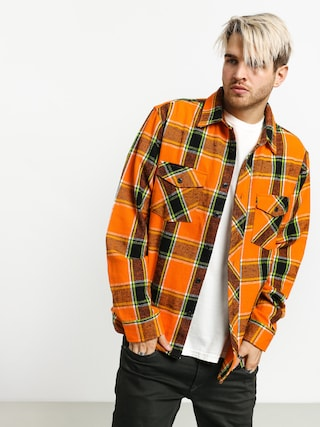 Stussy Ace Plaid Shirt (orange)